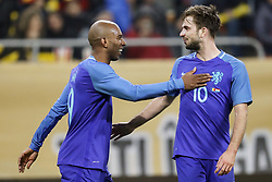 (L-R) Ryan Babel of Holland, Davy Propper of Holland during the friendly match between Romania and The Netherlands on November 14, 2017 at Arena National in Bucharest, Romania