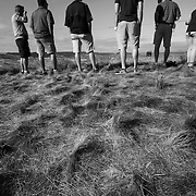 Fans at the 2015 US Open at Chambers Bay in Washington navigate the long and hilly terrain in hopes of gaining a good spot to watch the action.