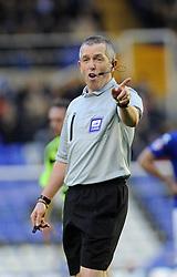 Referee, Frederick Graham - Photo mandatory by-line: Dougie Allward/JMP - Tel: Mobile: 07966 386802 18/01/2014 - SPORT - FOOTBALL - St Andrew's Stadium - Birmingham - Birmingham City v Yeovil Town - Sky Bet Championship