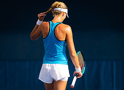 August 22, 2019, New York, NEW YORK, USA: Kristina Mladenovic of France during practice at the 2019 US Open Grand Slam tennis tournament (Credit Image: © AFP7 via ZUMA Wire)