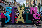 The Seven Dials Spotlight street festival in Soho, on 19th August 2017, in London, England.