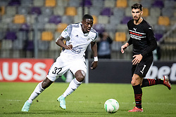Samsindin Ouro of NS Mura during football match between NS Mura and Rennes (FRA) in group stage of UEFA Europa Conference League 2021/22, on 20 of October, 2021 in Ljudski Vrt, Maribor, Slovenia. Photo by Blaž Weindorfer / Sportida