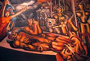 MEXICO, MEXICO CITY, MURAL Siqueiros', 'Torture of Cuauhtemoc'