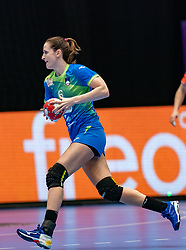Ana Gros of Slovenia in action during the Women's friendly match between Netherlands and Slovenia at De Maaspoort on march 19, 2021 in Den Bosch, Netherlands (Photo by RHF Agency/Ronald Hoogendoorn)