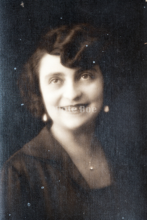 happy smiling young adult woman portrait ca 1930s