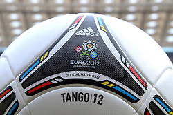 02.12.2012, Olymia Stadion, Kiev, UKR, Praesentation des neuen Adidasballes fuer die Euro 2012, im Bild TANGO 12 PILKA, OFICJALNA PILKA EURO 2012 // during the presentation of the neuw Adidas ball for Euro 2012 at Olypic stadium in Kiev, UKR on 2011/12/02. EXPA Pictures © 2011, PhotoCredit: EXPA/ Newspix/ Lukasz Grochala..***** ATTENTION - for AUT, SLO, CRO, SRB, SUI and SWE only *****
