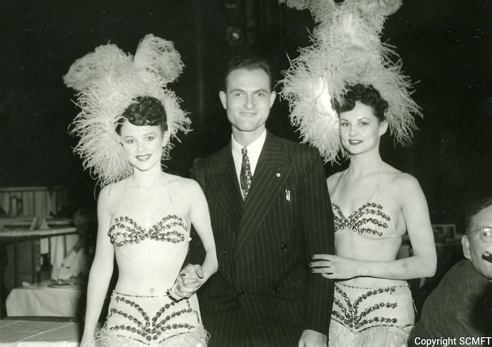 1947 Dancers with guest at Earl Carroll Theater