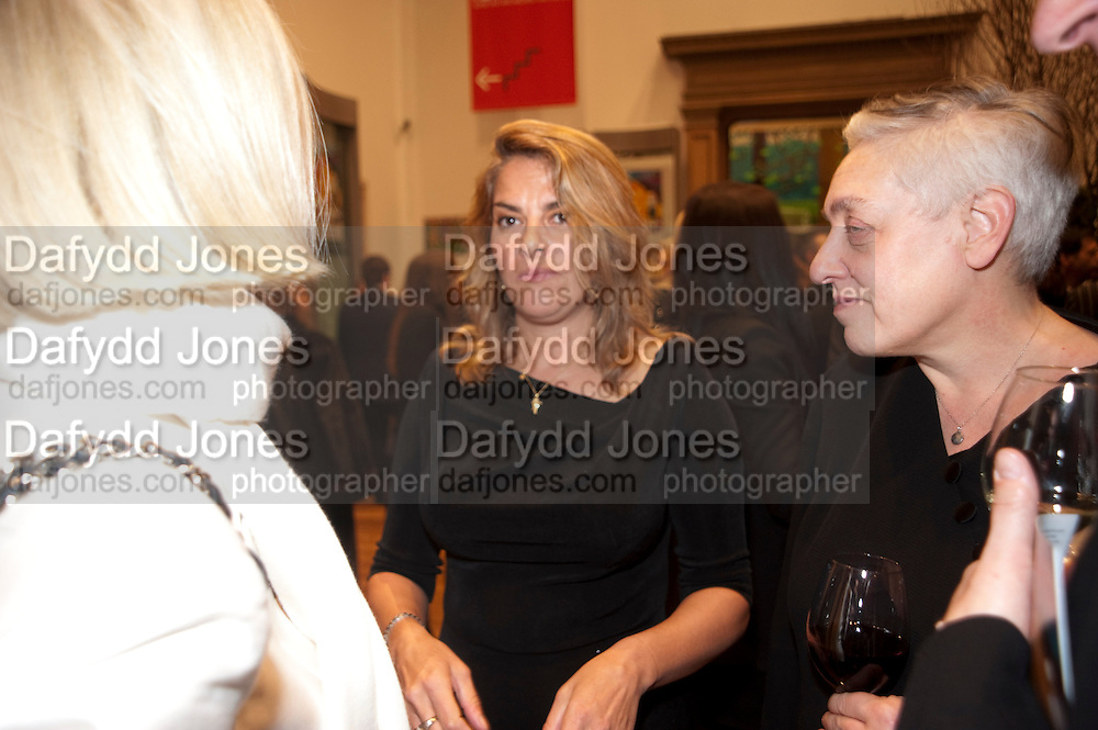 TRACEY EMIN; RUTH MACKENZIE; DIRECTOR OF THE CULTURAL OLYMPIAD, Opening of David Hockney ' A Bigger Picture' Royal Academy. Piccadilly. London. 17 January 2012