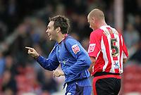 Photo: Lee Earle.<br /> Brentford v Bradford City. Coca Cola League 1. 02/09/2006. Bradford's Mark Bower celebrates his opening goal.