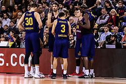 November 1, 2018 - Barcelona, Barcelona, Spain - FC Barcelona Lassa in actions during EuroLeague match between FC Barcelona Lassa and Maccabi Fox Tel Aviv  on November 01, 2018 at Palau Blaugrana, in Barcelona, Spain. (Credit Image: © AFP7 via ZUMA Wire)