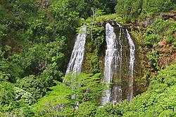 `Opaeka`a or Opaekaa Falls, 151 foot drop, Wailua, Kauai, Hawaii