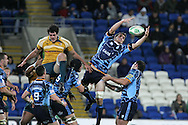 Cardiff Blues v Australia at the Cardiff City Stadium on Tuesday 24th Nov 2009. pic by Andrew Orchard, Andrew Orchard sports photography. Sam Warburton of Cardiff Blues wins a lineout ball