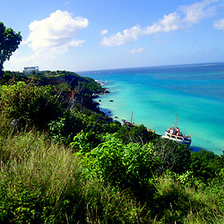 Boat on Beach in Anguilla, British West Indies