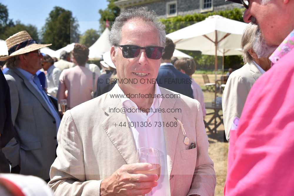 The Earl of Snowdon at the 'Cartier Style et Luxe' enclosure during the Goodwood Festival of Speed, Goodwood House, West Sussex, England. 15 July 2018.