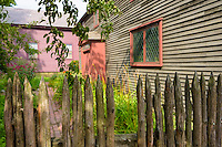 The Goult Pickman House, Salem's oldest building, may have been built as early as 1664 for Samuel Pickman stands at the corner of Liberty and Charter Streets in Salam Ma.