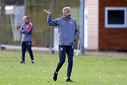 Arsenal manager Arsene Wenger during the training session at London Colney.