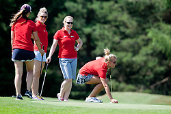 Kelly Williams and girls at Anze's Eleven and Triglav Charity Golf Tournament, on June 30, 2012 in Golf court Bled, Slovenia. (Photo by Matic Klansek Velej / Sportida)