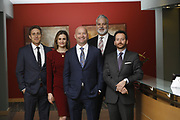 SHOT 1/8/19 12:23:21 PM - Bachus & Schanker LLC lawyers James Olsen, Maaren Johnson, J. Kyle Bachus, Darin Schanker and Andrew Quisenberry in their downtown Denver, Co. offices. The law firm specializes in car accidents, personal injury cases, consumer rights, class action suits and much more. (Photo by Marc Piscotty / © 2018)
