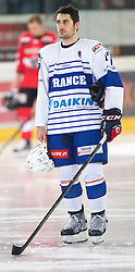 13.02.2016, Olympiaworld, Innsbruck, AUT, Euro Ice Hockey Challenge, Österreich vs Frankreich, im Bild Vincent Kara (FRA) // Vincent Kara of France during the Euro Icehockey Challenge Match between Austria and France at the Olympiaworld in Innsbruck, Austria on 2016/02/13. EXPA Pictures © 2016, PhotoCredit: EXPA/ Jakob Gruber