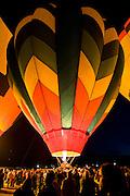 Crowds gather to watch the Dawn Patrol at the Albuquerque International Balloon Fiesta
