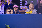 Koning Willem-Alexander en prinses Amalia zijn aanwezig in de RAI tijdens de wereldbeker springen bij Jumping Amsterdam.<br /> <br /> King Willem-Alexander and princess Amalia are present at the RAI during the World Cup jumping at Jumping Amsterdam.<br /> <br /> Op de foto:   Britt Dekker en Erland Galjaard