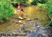 PA landscapes Fishing African American Father and Son Creek Trout Fishing, York Co., PA