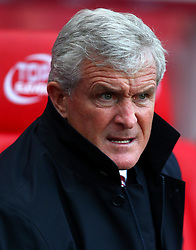 """Stoke City manager Mark Hughes during the Premier League match at the Bet35 Stadium, Stoke. PRESS ASSOCIATION Photo Picture date: Saturday December 2, 2017. See PA story SOCCER Stoke. Photo credit should read: Dave Thompson/PA Wire. RESTRICTIONS: EDITORIAL USE ONLY No use with unauthorised audio, video, data, fixture lists, club/league logos or """"live"""" services. Online in-match use limited to 75 images, no video emulation. No use in betting, games or single club/league/player publications"""