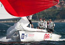Ebler Matchracing team. Danish Open 2010, Bornholm, Denmark. World Match Racing Tour. photo: Loris von Siebenthal - myimage