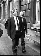 TDs arrive for the opening session of the 23rd Dáil...9-03-82.03-09-1982.9th March 1982..Pictured At Leinster House. ..All smiles on opening day