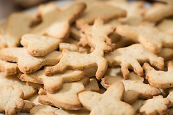 Close-up of different shaped cookies, Munich, Bavaria, Germany