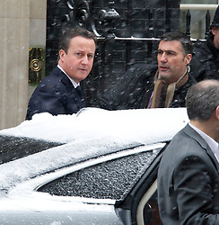 The Prime Minister leaves Downing Street for the Commons today to make a statement on the Algerian crisis, London, UK, January 18 2013. Photo by  i-Images.