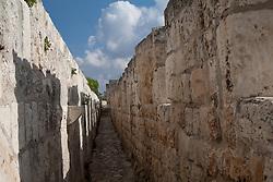 Middle East, Israel, Jerusalem, stone walls around historic city