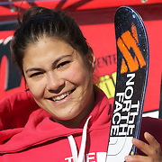 Janina Kuzma, New Zealand, in action during her third place finish in the Women's Halfpipe Finals during The North Face Freeski Open at Snow Park, Wanaka, New Zealand, 3rd September 2011. Photo Tim Clayton....