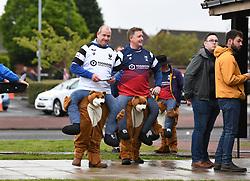 Bristol Bears fans arrive at Kingston Park in fancy dress - Mandatory by-line: Richard Lee/JMP - 18/05/2019 - RUGBY - Kingston Park Stadium - Newcastle upon Tyne, England - Newcastle Falcons v Bristol Bears - Gallagher Premiership Rugby