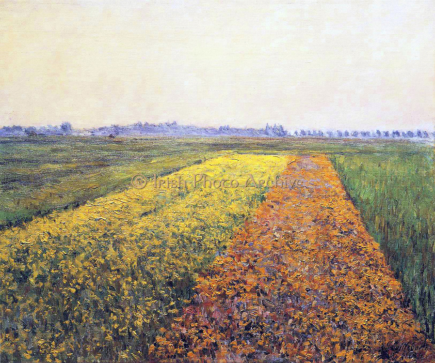 Gustave Caillebotte  1848 –  1894, French painter, 1894 The Yellow Fields at Gennevilliers