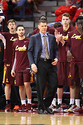06 January 2016: Porter Moser during the Illinois State Redbirds v Loyola-Chicago Ramblers at Redbird Arena in Normal Illinois (Photo by Alan Look)