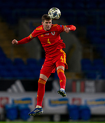 CARDIFF, WALES - Wednesday, November 18, 2020: Wales' Chris Mepham during the UEFA Nations League Group Stage League B Group 4 match between Wales and Finland at the Cardiff City Stadium. Wales won 3-1 and finished top of Group 4. (Pic by David Rawcliffe/Propaganda)