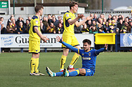 AFC Wimbledon attacker Harry Forrester (11) appealing for penalty during the EFL Sky Bet League 1 match between AFC Wimbledon and Oxford United at the Cherry Red Records Stadium, Kingston, England on 10 March 2018. Picture by Matthew Redman.