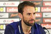 England interim Manager Gareth Southgate during the England Team Media Conference ahead of England v Scotland, at St George's Park National Football Centre, Burton-Upon-Trent, United Kingdom on 10 November 2016. Photo by Aaron  Lupton.