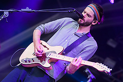 Harry Hudson-Taylor of Hudson Taylor performs on stage on day 1 of Standon Calling Festival on July 27, 2018 in Standon, England. Picture date: Friday 27 July, 2018. Photo credit: Katja Ogrin/ EMPICS Entertainment.