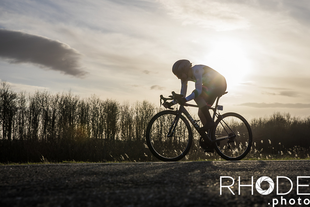 Femke Markus (NED/Parkhotel Valkenburg)<br /> <br /> Healthy Ageing Tour (NED) 2021<br /> UCI Women Elite 2.1<br /> Stage 2 : Individual Time Trial (ITT) – Lauwersoog – Het Hoogeland 14.4km<br /> <br /> ©RhodePhoto