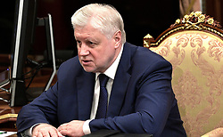 June 7, 2017 - Moscow, Russia - June 7, 2017. - Russia, Moscow. - A Just Russia Chairman Sergey Mironov at a meeting with President Vladimir Putin. (Credit Image: © Russian Look via ZUMA Wire)