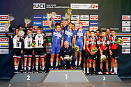 Podium Team Sunweb, QuickStep - Floors, BMC during the 2018 UCI Road World Championships, Men's Team Time Trial cycling race on September 23, 2018 in Innsbruck, Austria - Photo Luca Bettini / BettiniPhoto / ProSportsImages / DPPI