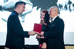 Matevz Cesen at 55th Annual Awards of Stanko Bloudek for sports achievements in Slovenia in year 2018 on February 4, 2020 in Brdo Congress Center, Kranj , Slovenia. Photo by Grega Valancic / Sportida