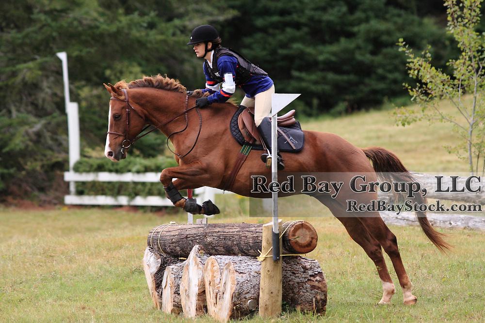 Deb MacEwen and Coppertop at the 2009 Strathgartney Autmn Horse Trials in Bonshaw, PEI.