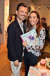 MATTHEW WILLIAMSON and MARYAM ZAMANI at a party to celebrate the launch of Matthew Williamson: Fashion, Print and Colouring Book held at Anthropologie, 158 Regent Street, London on 8th September 2016.