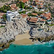 Private homes along the Palmilla coastline in Los Cabos, Mexico.