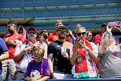 ANN ARBOR, USA - Friday, July 27, 2018: Liverpool supporters during a training session ahead of the preseason International Champions Cup match between Manchester United FC and Liverpool FC at the Michigan Stadium. (Pic by David Rawcliffe/Propaganda)
