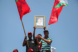 August 26, 2017 - Gaza, Palestine - Thousands of supporters of the Popular Front for the Liberation of Palestine (PFLP) took to the streets of Gaza on Saturday to commemorate the death of their leaders, led by former Secretary-General of the Front Abu Ali Mustafa...On Saturday, the 16th anniversary of the assassination of Secretary-General of the Popular Front Abu Ali Mustafa, the occupation forces bombed his office in Ramallah with a missile, on the twenty-seventh of August 2001. (Credit Image: © Ramez Habboub/Pacific Press via ZUMA Wire)