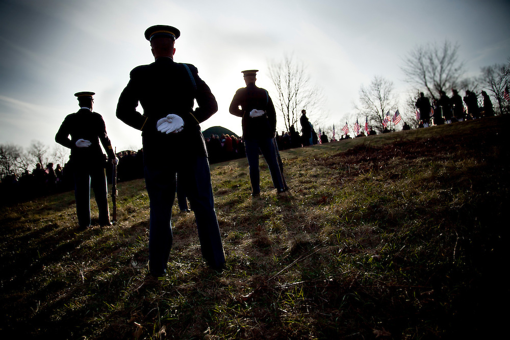 More than 1000 people gathered to commemorate Army 1st Lt. Scott Milley, 23 year old, who was killed in Afghanistan, and honor his bravery, Western Massachusetts, December 11th,2010.